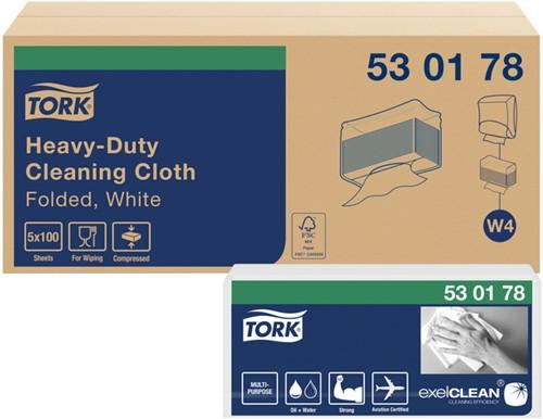 POETSDOEK TORK W4 530178 NONWOVEN HEAVY DUTY 5 PAK