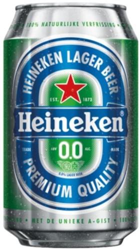 BIER HEINEKEN 0.0 BLIK 0.33L 33 Centiliter