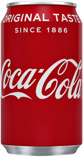 FRISDRANK COCA COLA REGULAR BLIKJE 0.33L 33 CL