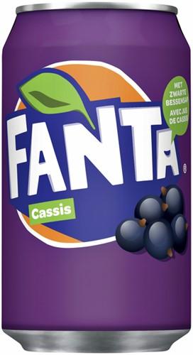 FRISDRANK FANTA CASSIS BLIKJE 0.33L 33 Centiliter