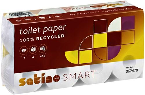 TOILETPAPIER SATINO SMART 2LAAGS 400VEL 4ROL 4 STUK