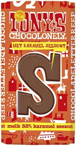 TONY'S CHOCOLONELY MELK KARAMEL ZEEZOUT LR 180GR 1 STUK