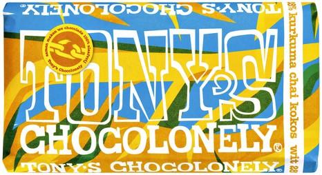 TONY'S CHOCOLONELY WIT KURKUMA CHAI KOKOS 180GR 180 GRAM