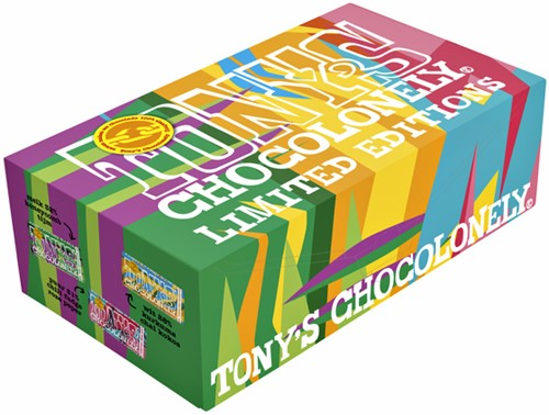 TONY'S CHOCOLONELY WIT-PUUR-MELK ASSORTI 3 STUK