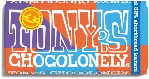 TONY'S CHOCOLONELY MELK 32% SHORTBREAD 180GR 1 STUK
