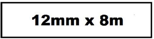 LABELTAPE QUANTORE TZE-231 12MMX8M WIT/ZWART 1 Stuk