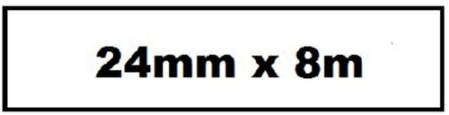 LABELTAPE QUANTORE TZE-251 24MMX8M WIT/ZWART 1 Stuk