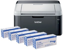 LASERPRINTER BROTHER HL-1212W + 4 EXTRA TONERS TN1050 1 STUK
