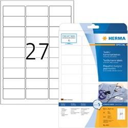 NAAMBADGE ETIKET HERMA 4511 63.5X29.6MM WIT 20 VEL