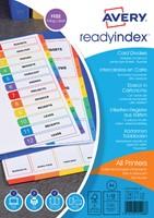 TABBLADEN AVERY READYINDEX A4 4R 12DLG 1 SET