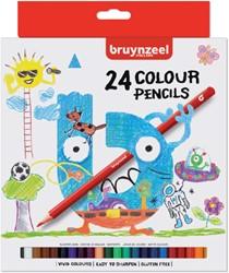 KLEURPOTLOOD BRUYNZEEL KIDS ASS 24 STUK