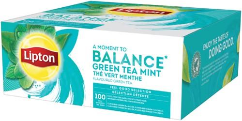 THEE LIPTON BALANCE GREEN TEA MINT 1.5GR MET ENVELOP 100 STUK