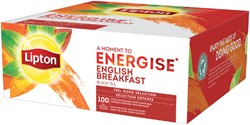 THEE LIPTON ENERGISE ENGLISH BREAKFAST 100ST 100 STUK