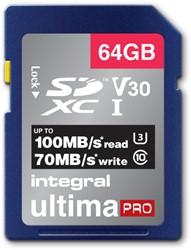 GEHEUGENKAART INTEGRAL SDHC V30 64GB 1 STUK