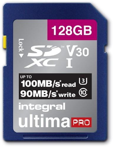 GEHEUGENKAART INTEGRAL SDXC V30 128GB 1 Stuk