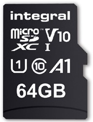 GEHEUGENKAART INTEGRAL MICRO V10 64GB 1 STUK