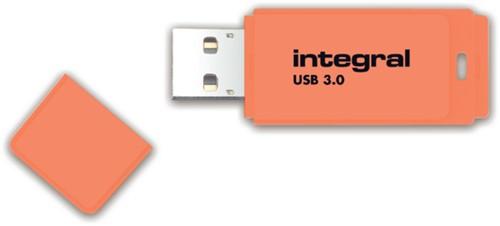 USB-STICK INTEGRAL 64GB 3.0 NEON ORANJE 1 STUK