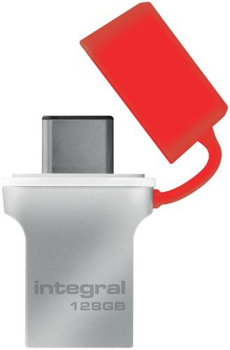 USB-STICK INTEGRAL 128GB 3.0 FUSION C 1 Stuk