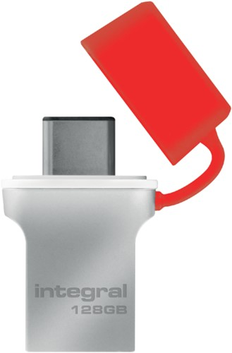 USB-STICK INTEGRAL 128GB 3.0 FUSION C 1 STUK