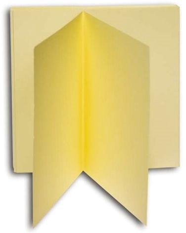 KAART DUBBEL PAPYRUS DESIGN 130X130MM IVOOR 10 KRT