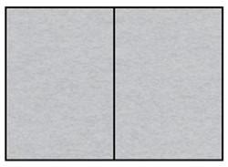 C0RRESPONDENTIEKAART DUBBEL A6 ZILVER 5 STUK