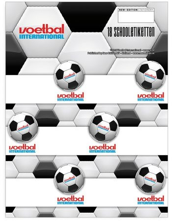 SCHOOLETIKET VOETBAL INTERNATIONAL 1 STUK