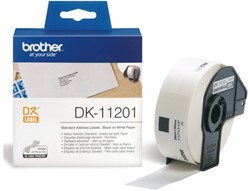 LABEL ETIKET BROTHER DK-11201 29MMX90MM ADRES WIT 400 LABEL