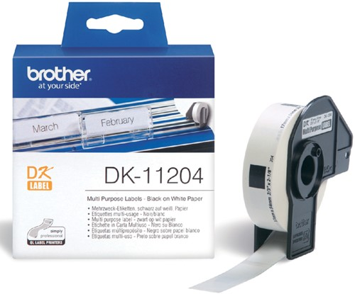LABEL ETIKET BROTHER DK-11204 17MMX54MM WIT 400 Stuk