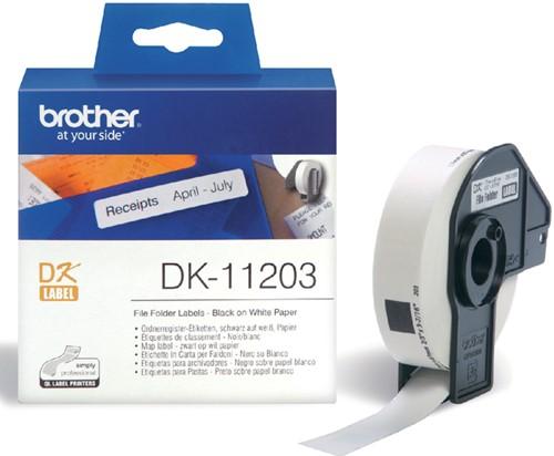 LABEL ETIKET BROTHER DK-11203 17MMX87MM WIT 300 Stuk