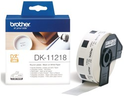 LABEL ETIKET BROTHER DK-11218 24MM ROND 1000 LABEL