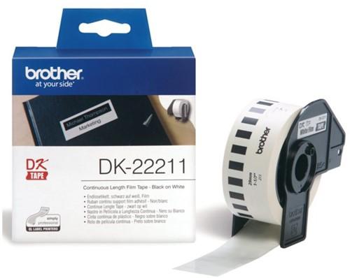 LABEL ETIKET BROTHER DK-22211 29MMX15.24M WIT 15.24 METER