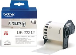 LABEL ETIKET BROTHER DK-22212 62MMX15.24M WIT 15.24 METER