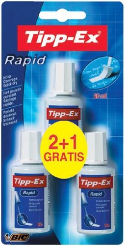 CORRECTIEVLOEISTOF TIPP-EX RAPID 20ML 3 Stuk