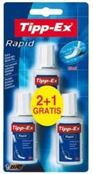 CORRECTIEVLOEISTOF TIPP-EX RAPID 20ML 2+1 STUK