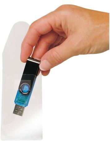 USB HOES 3L 52.5X90MM MET SLUITING ZELFKLEVEND 10 STUK