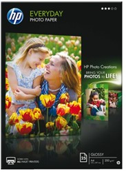 FOTOPAPIER HP Q5451A A4 200GR GLANS 25 VEL