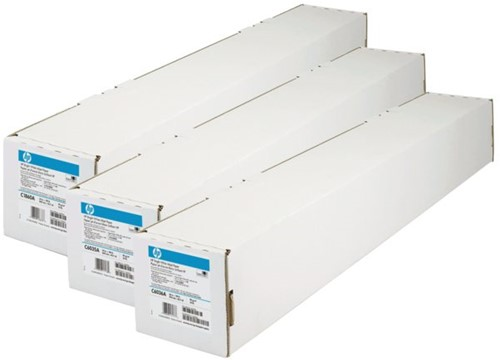 INKJETPAPIER HP Q1444A 841MMX45.7M HELDER WIT 90GR 45.7 METER