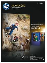 FOTOPAPIER HP Q8698A A4 250GR GLANS 50 VEL