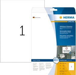 ETIKET HERMA MOVABLE 10021 210X297MM A4 25ST 25 VEL