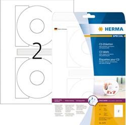 ETIKET HERMA 8624 116MM PREMIUM A4 20ST WIT 10 VEL