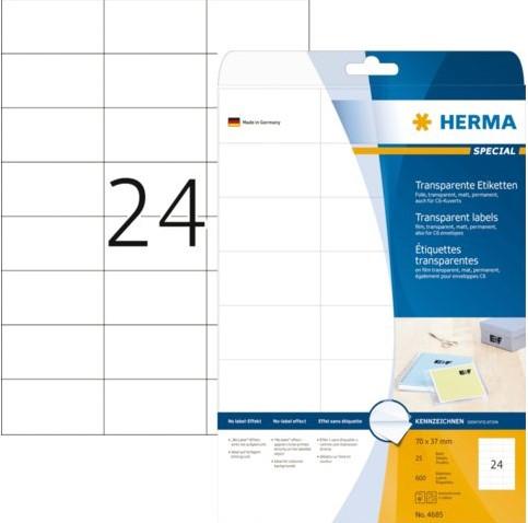 ETIKET HERMA 4685 70X37MM TR 600ST 25 VEL