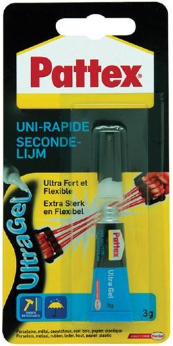 SECONDELIJM PATTEX ULTRAGEL 3GR 1 Stuk