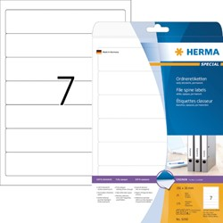 RUGETIKET HERMA 5090 192X38MM 175ST A4 WIT 25 VEL