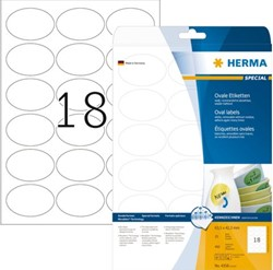ETIKET HERMA 4358 63.5X42.3MM OVAAL MOVABLE 450ST WIT 25 VEL