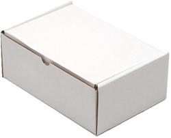 POSTPAKKET CLEVERPACK GOLFKARTON 220X160X90MM WIT 5 STUK