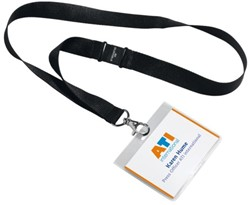 BADGE DURABLE 8600 +TEXTIELBAND 60X90MM 1 STUK