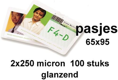 LAMINEERHOES GBC GOVERNM CARD 65X95MM 2X250MIC 100 Stuk