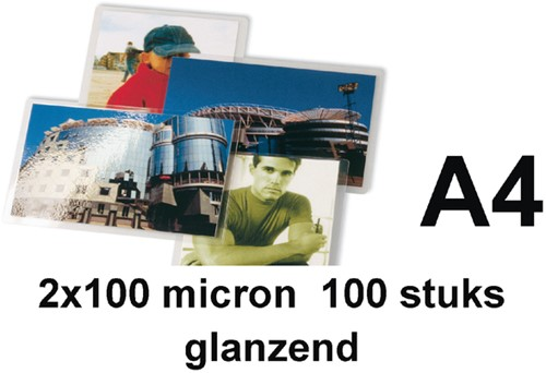 LAMINEERHOES GBC A4 2X100MICRON 100 Stuk