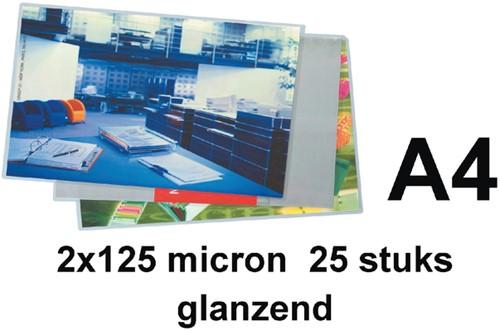 LAMINEERHOES GBC A4 2X125MICRON GLANS 25 Stuk
