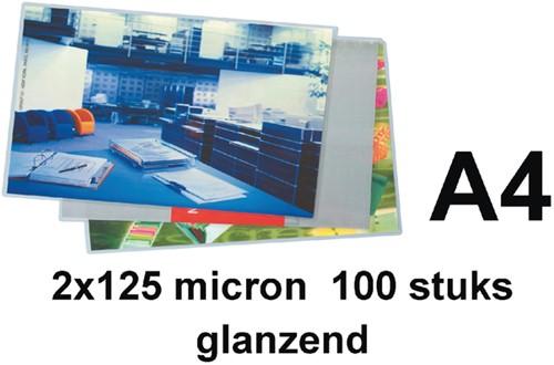 LAMINEERHOES GBC A4 2X125MICRON GLANS 100 Stuk